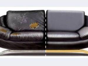 Перетяжка кожаного дивана в Вологде